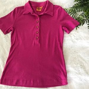 Tory Burch pink Colton polo